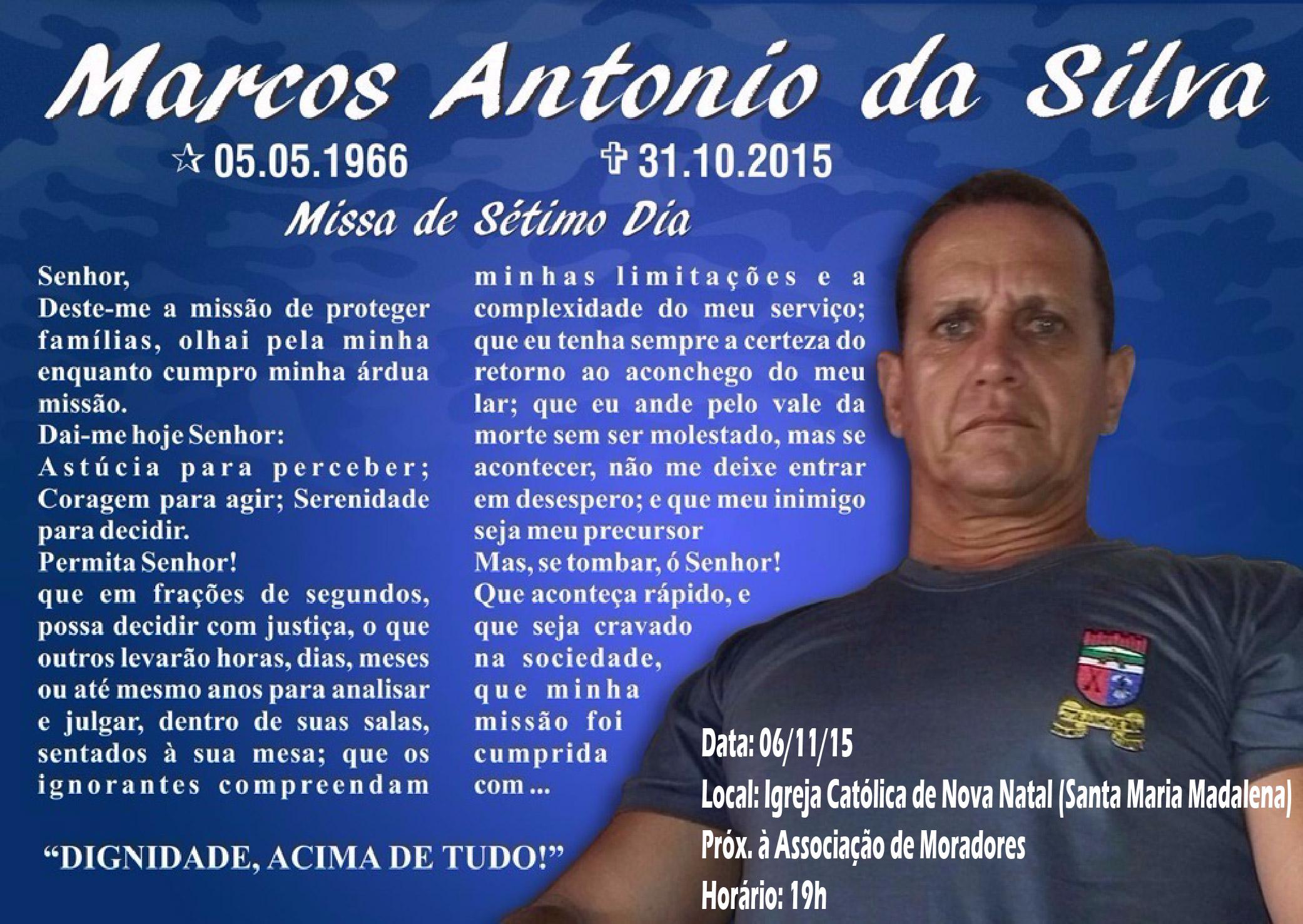 ACS PM RN | Missa do 7º Dia do Policial Militar Marcos Antonio da Silva
